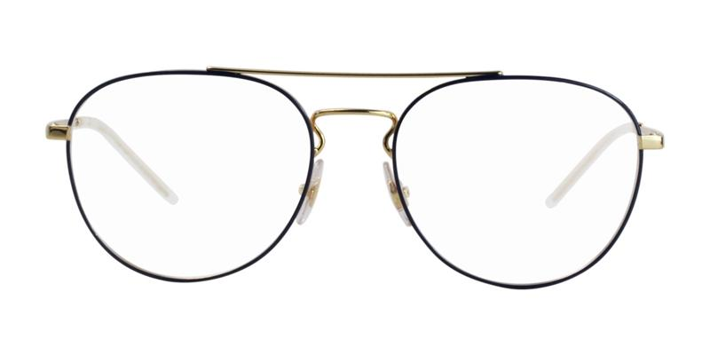Ray Ban Rx - RX6414 Gold Blue Oval Unisex Eyeglasses - 55mm