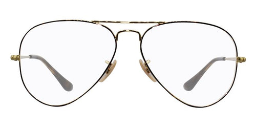Ray-Ban RX6489 Gold / Clear Lens