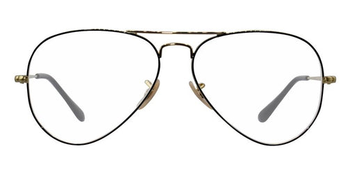 Ray Ban Rx - RX6489 Gold Aviator Women Eyeglasses - 58mm