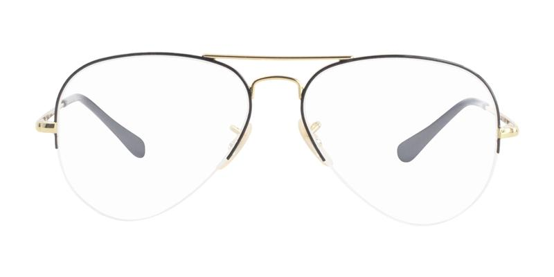 63685192978 Ray Ban RX6589 Gold   Clear Lens Eyeglasses – shadesdaddy