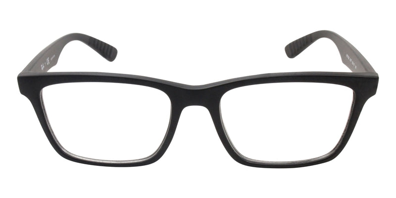 Ray Ban Rx - RX7025 Black Rectangular Unisex Eyeglasses - 55mm