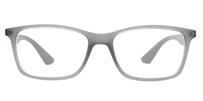 9d7fa90df3 Ray Ban RX7047 Gray   Clear Lens Eyeglasses – shadesdaddy