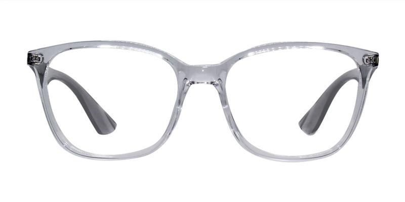 Ray Ban Rx - RX7066 Clear Rectangular Unisex Eyeglasses - 54mm