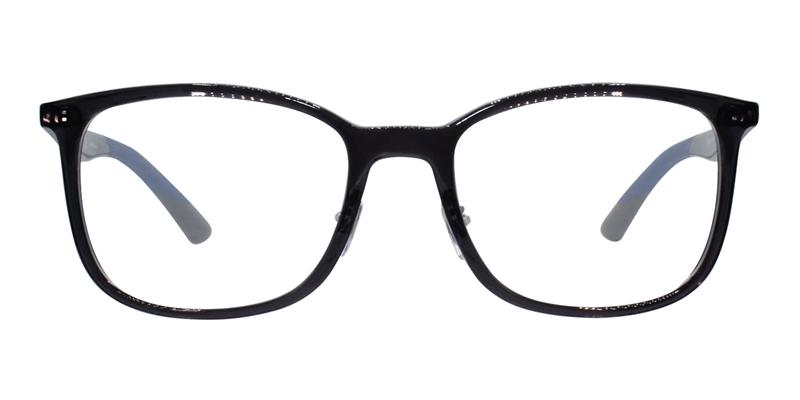 Ray Ban Rx - RX7142 Gray Rectangular Unisex Eyeglasses - 52mm