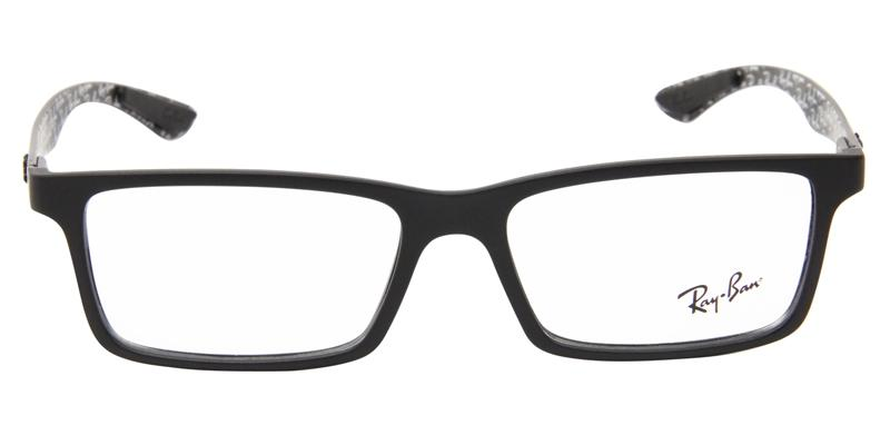 Ray Ban Rx - RX8901 Black Rectangular Men Eyeglasses - 55mm