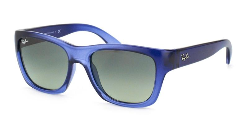 Ray Ban - RB4194 Blue/Gray Gradient Rectangular Unisex Sunglasses - 53mm