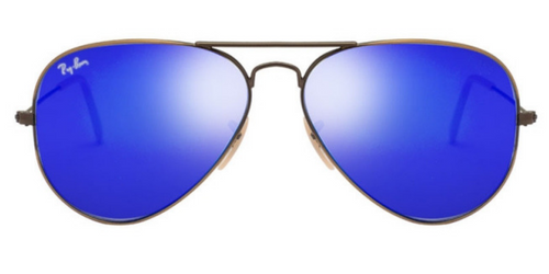 Ray Ban Brush Bronze / Blue Mirror Aviator Sunglasses RB 3025 167/68