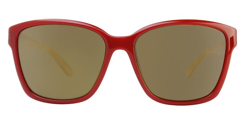 Salvatore Ferragamo SF716S Red / Gold Lens Mirror Sunglasses