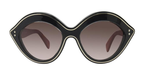 Valentino Women's V689S Black / Brown Lens Sunglasses
