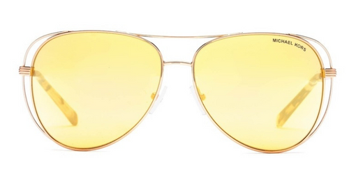 Michael Kors MK1024 Rose Gold / Yellow Lens Sunglasses