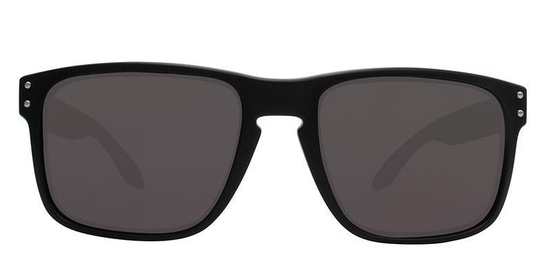 Oakley - OO9102 Black Rectangular Unisex Sunglasses - 55mm