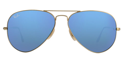 Ray Ban - Aviator Gold Aviator Unisex Sunglasses - 58mm-Sunglasses-Designer Eyes