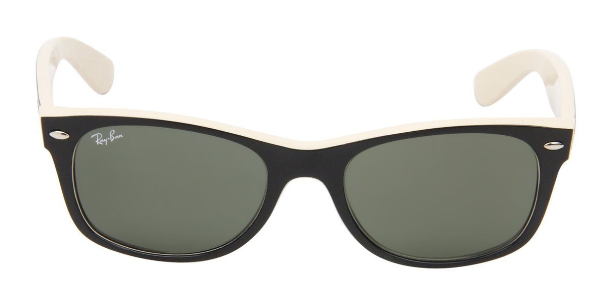Ray Ban - New Wayfarer Black Wayfarer Unisex Sunglasses - 52mm-Sunglasses-Designer Eyes