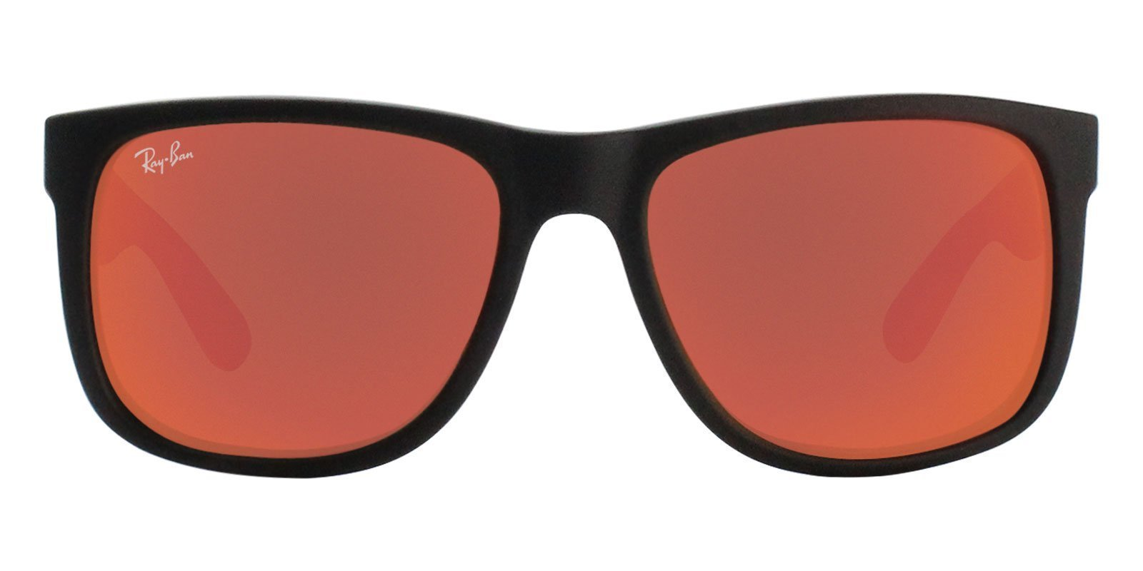 2fdd2a7cd7 ... switzerland ray ban justin rb4165 black red mirrored lens sunglasses  shadesdaddy 97f4e cb1a3