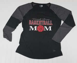 Tecumseh Arrows Chevron Basketball Mom Ladies Raglan, Long Sleeve T-Shirt