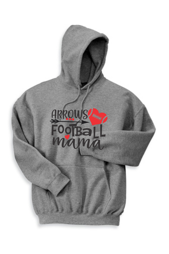 Arrows Football Mama Hoodie - Heather Gray