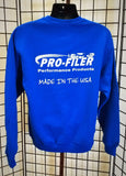 Pro-Filer Made in USA Eyes Crewneck Sweatshirt - Blue