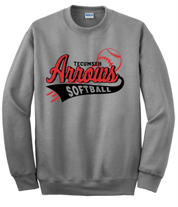Tecumseh Arrows Softball Crewneck Sweatshirt - Gray