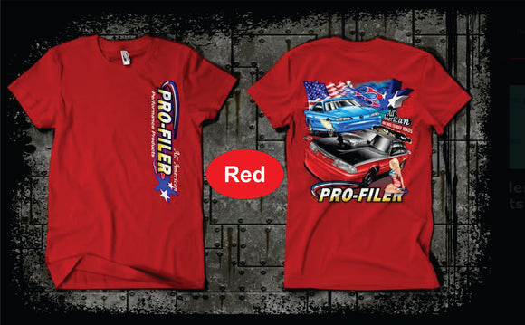 Pro-Filer All American Mustangs T-Shirt - Red