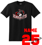 Knights Baseball TShirt with Sword Logo