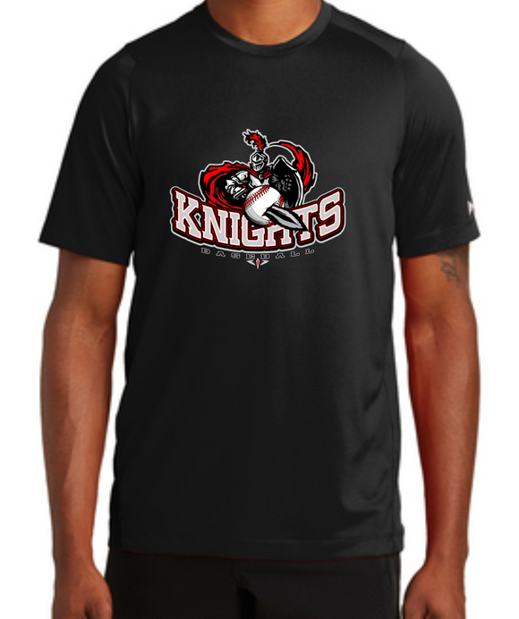 Knights Baseball New Era Performance T-Shirt with Sword Logo