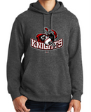 Knights Baseball Hoodie with Sword Logo - RED or Dark Heather