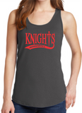 Knights Baseball Ladies Tank Top with Tail Design
