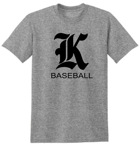 Knights Baseball TShirt with K Design