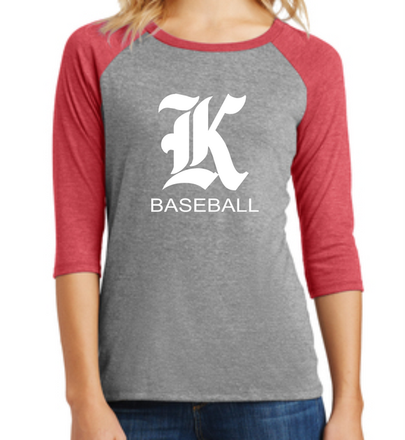 Knights Baseball Ladies 3/4 Sleeve Shirt with K Design