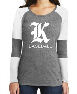 Knights Baseball Ladies New Era Baseball Shirt with K Design