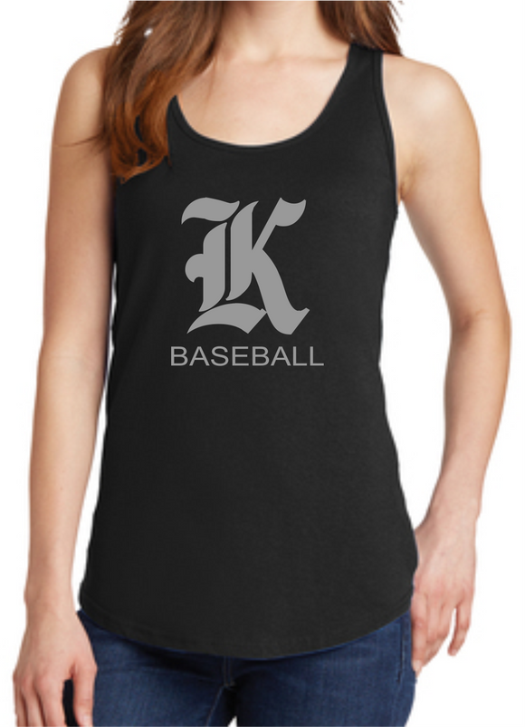 Knights Baseball Ladies Tank Top with K Design