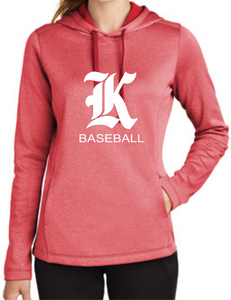 Knights Baseball Ladies Heather Fleece Hoodie with K Design