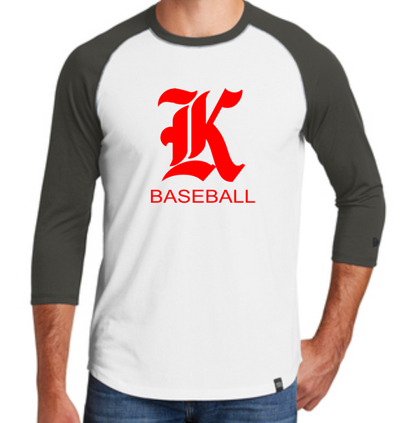 Knights Baseball 3/4 Sleeve New Era Shirt with K Design