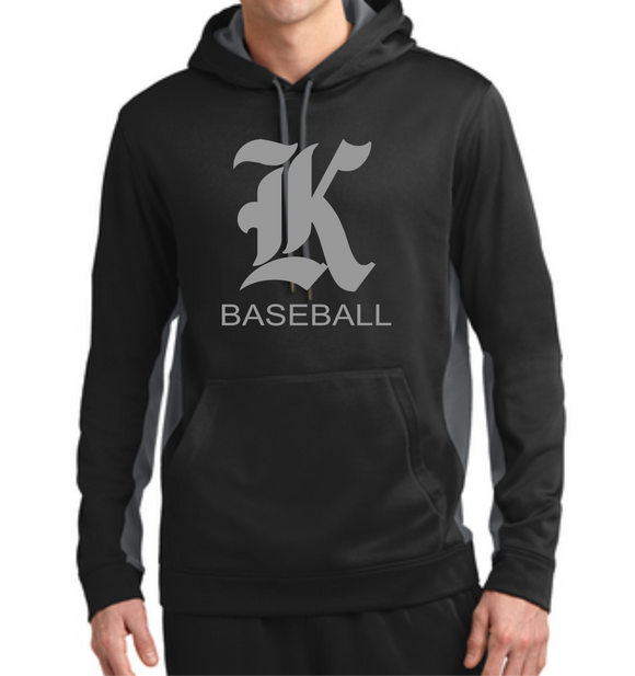 Knights Baseball Sport-Wick® Colorblock Hoodie with K Design
