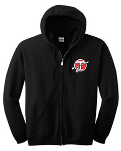 Tecumseh Circle T - Black Full Zip Hoodie