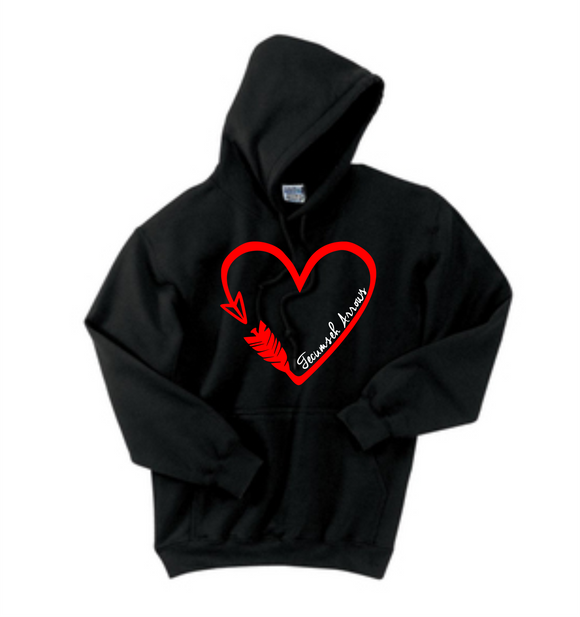 Arrow Heart Hoodie - Black