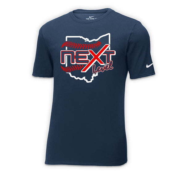 Next Level Baseball 2021 Ohio Crest Nike Premium Soft T-shirt