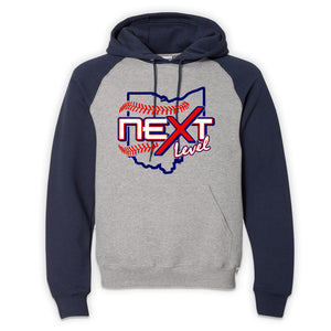 Next Level Baseball 2021 Russell Athletic Colorblock Hoodie