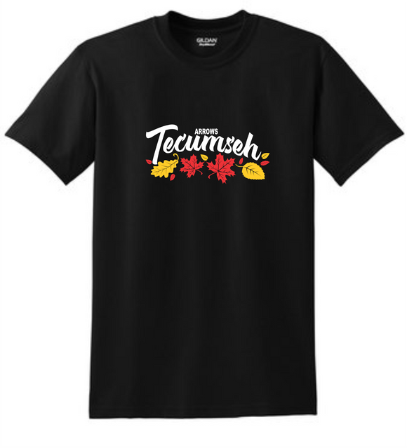 Tecumseh Leaves for Fall T-Shirt - Black