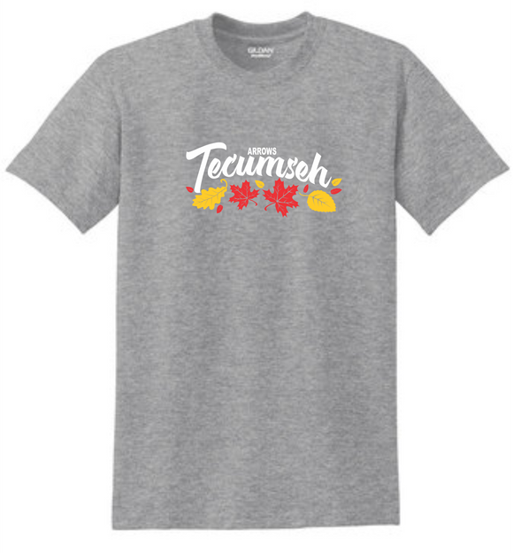 Tecumseh Leaves for Fall T-Shirt - Grey