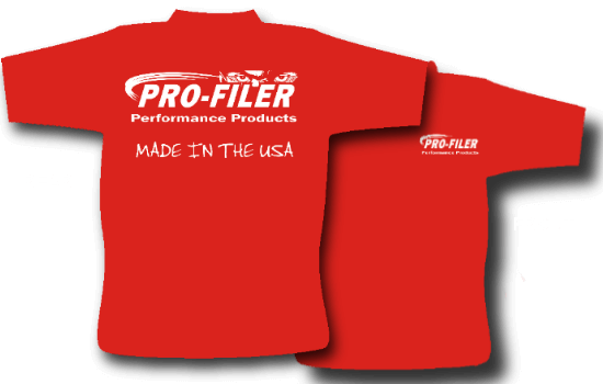Pro-Filer Made in USA Eyes T-Shirt - Red