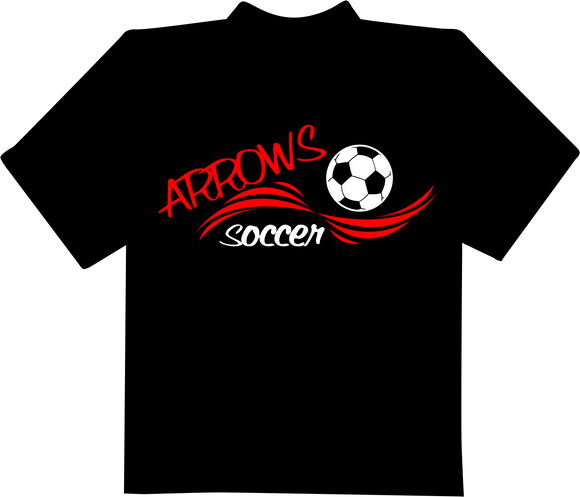 Arrows Soccer Wave T-Shirt - Black