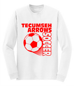 Tecumseh Arrows Soccer Long Sleeve T-Shirt - White