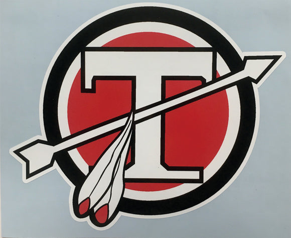 Tecumseh Circle T Decal - Tri Color - 4