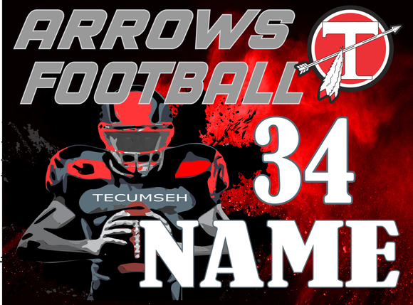 2019 Tecumseh Football Yard Sign