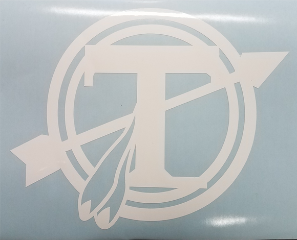 Tecumseh Circle T Decal - White - 4