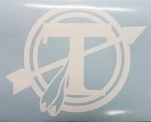 "Tecumseh Circle T Decal - White - 6""x 5"""