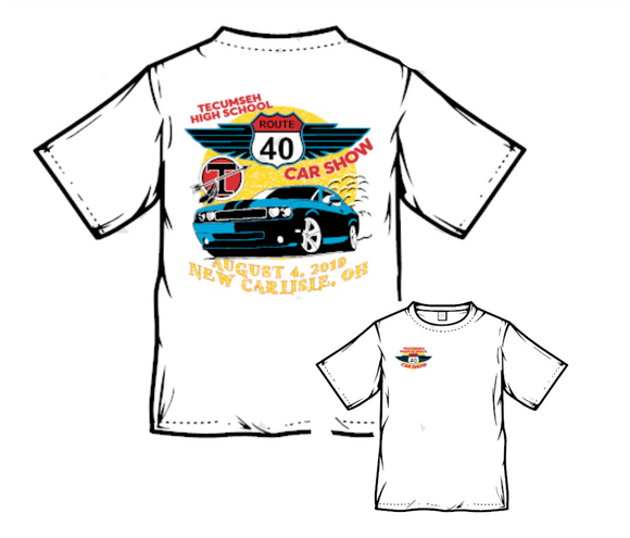 2019 Tecumseh Route 40 Car Show T-Shirt