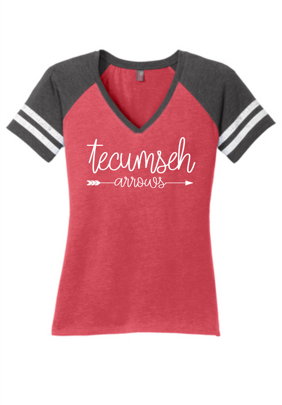 Tecumseh Arrows Women's Game V-Neck T-Shirt