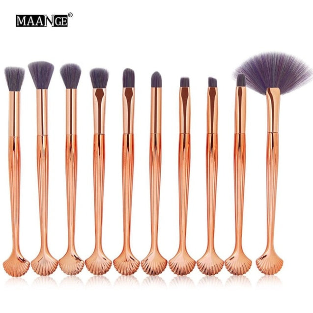 11PCS Pro Mermaid Makeup Brushes